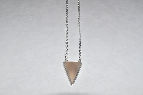Chalcedony Triangle Necklace NS103-SS