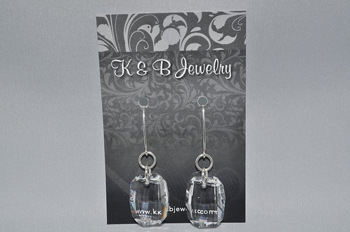 Crystal Graphic Earrings  EM040-SS