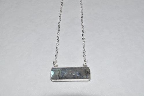 Labradorite Rectangle Necklace NS102-SS