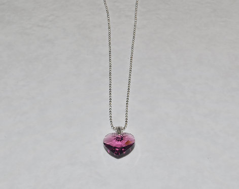 Swarovski Xilion Heart Necklace   NS053-SS