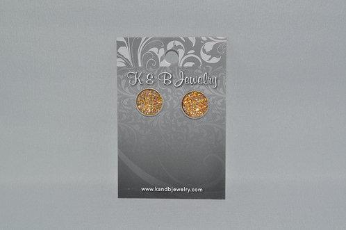 AB Gold Druzy Studs  EST-080-SS