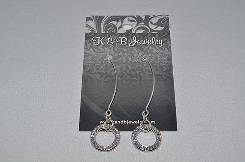 Aurora Borealis Circle Earrings  EL003-SS