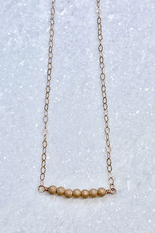 Rose Gold Stardust Bead Necklace NS025-RG