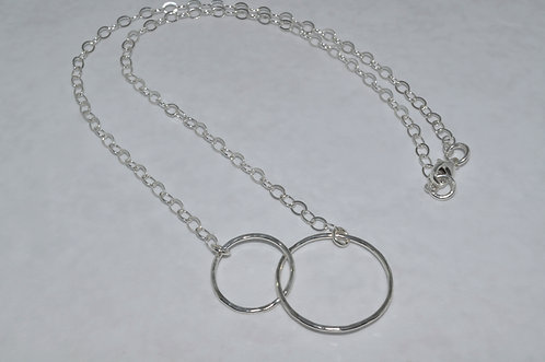 Double Circle Necklace   NS014-SS