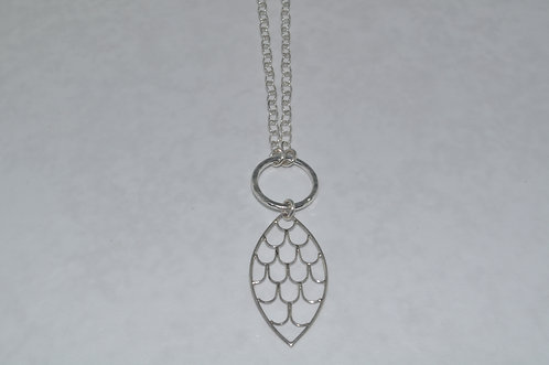Marquis Wing Pendant Necklace  NL041-SS