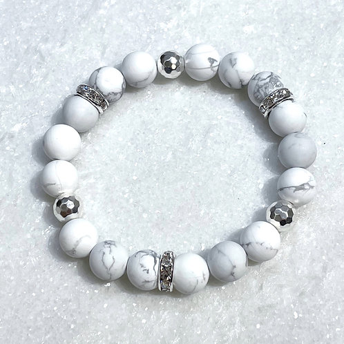 10mm Howlite Stretch Bracelet B390-SS
