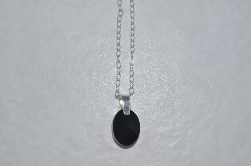 Swarovski Xilion Oval Necklace   NS054-SS