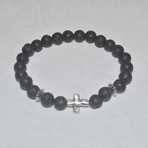 Men's Lava Stone Stretch Bracelet B175-SS