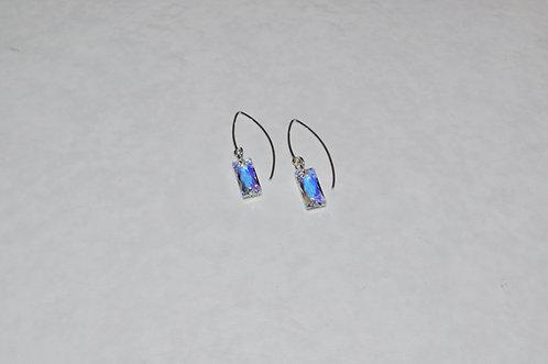 Aurora Borealis Baguette Earrings EM073-SS