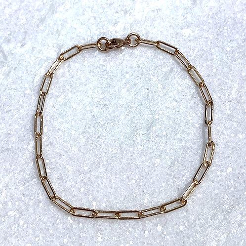 RG Paperclip Chain Bracelet B108-RG