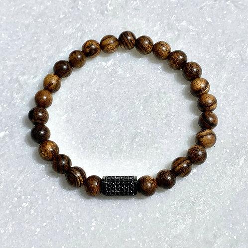 Men's Tiger Skin Sandlewood Stretch Bracelet B379-SS