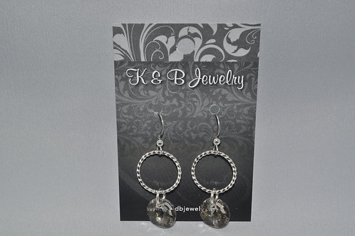 Silver Shade/Twisted Wire Earrings  ESB009-SS