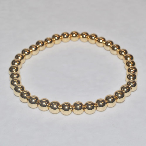 Gold Hematite Stretch Bracelet - B093-GF