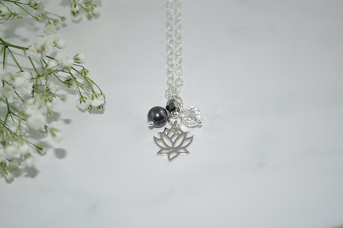 Lotus Necklace   NS060-SS