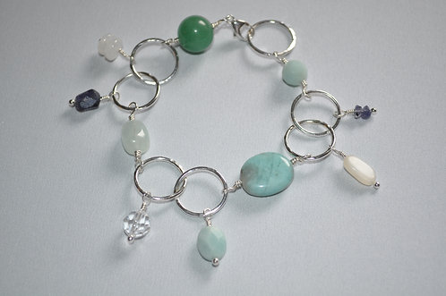 Wrapped Circle Bracelet - B044-SS