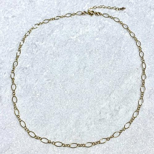 GF Long + Short Chain Choker Necklace NS052-GF