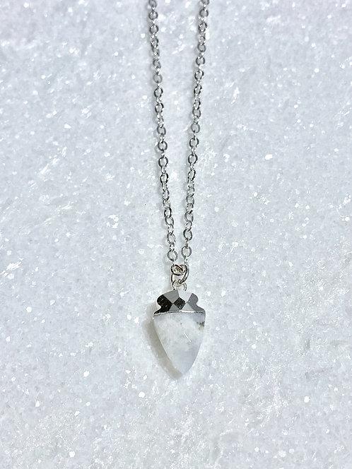 SS Moonstone Mini Arrowhead Necklace NS180-SS