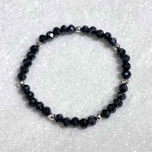 Navy Shimmer Stretch Bracelet B391-SS