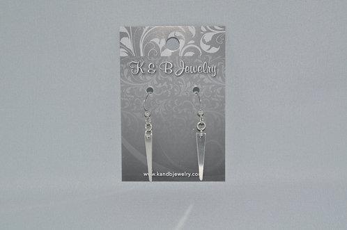 Trapezoid Earrings  ESB025-SS