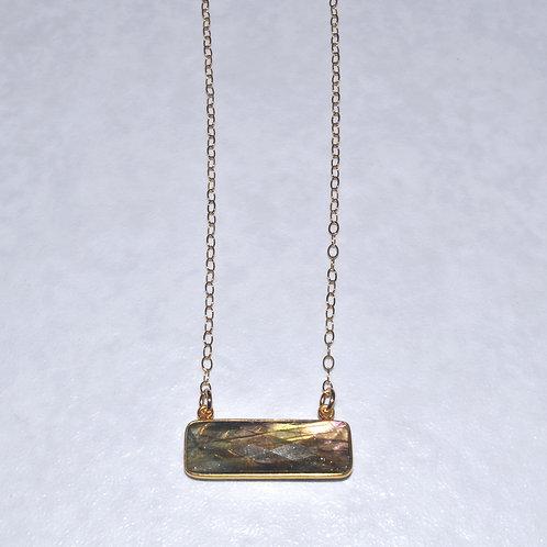 Labradorite Rectangle Necklace NS015-GF