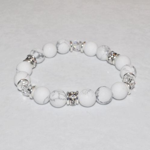 Howlite Stretch Bracelet B289-SS
