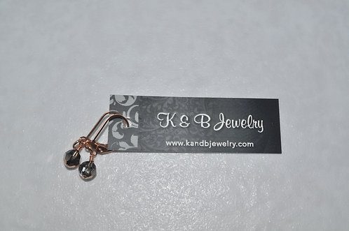 Crystal Rose Gold Earrings  ELB002-RG