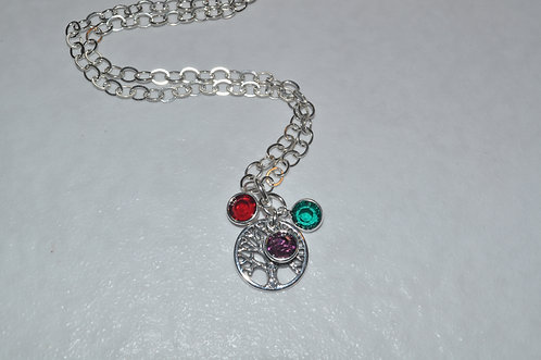 Family Tree of Life with 2 Birthstones  NS092-SS