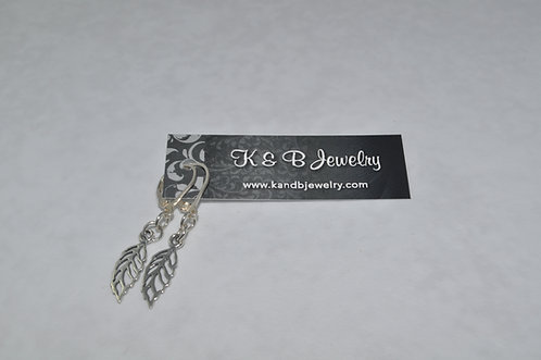 Sterling Silver Filigree Leaf  ELB024-SS