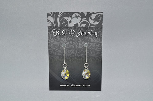 Aurora Borealis Oval Earrings  EM046-SS