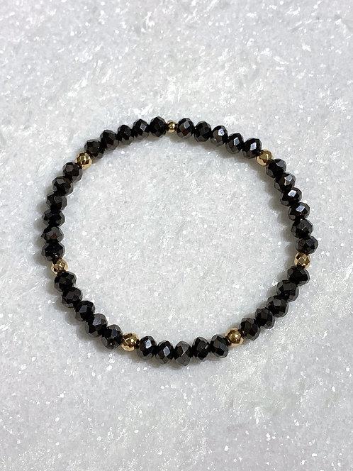 Black Shimmer Stretch Bracelet B142-GF