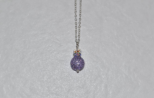 Tanzanite Pave' Ball Necklace NL096-SS