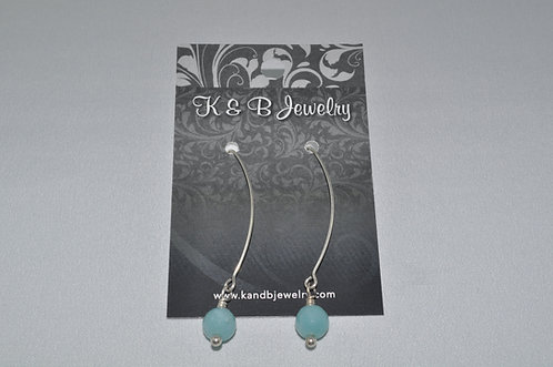 Faceted Aquamarine Earrings  EL005-SS