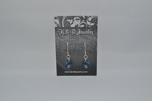 Blue Pear Earrings  EM048-SS