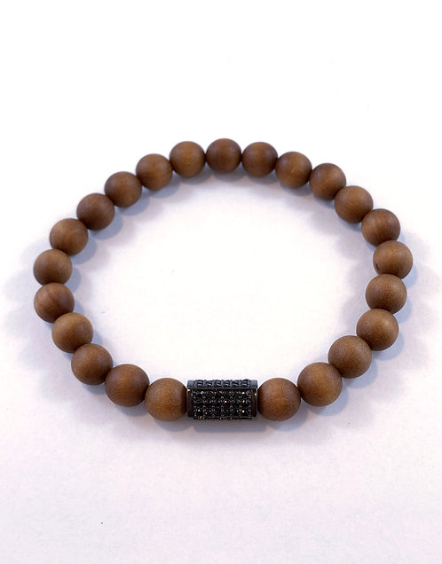 Men's Brown Sandlewood Stretch Bracelet B353-SS