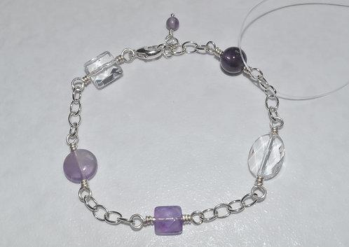 Purple Chain Bracelet   B032-SS