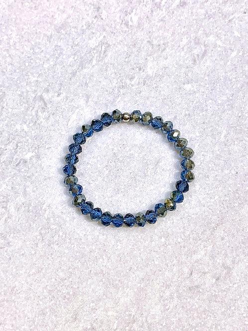 Kids Blue Shimmer Stretch Bracelet B365-SS
