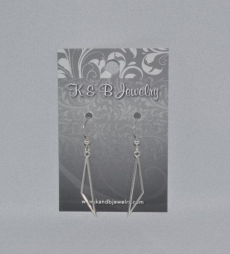 Geometric Triangle Earrings  ESB029-SS