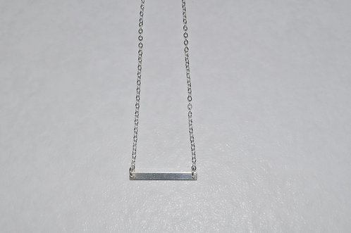 Rectangle Bar Necklace (Small)  NS115-SS