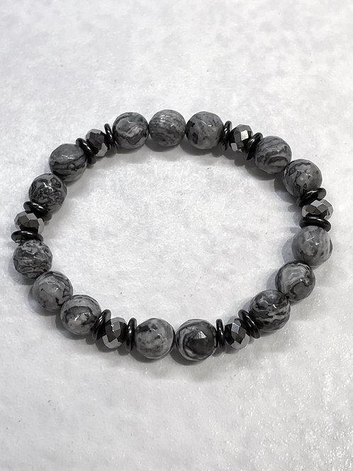 Marble Stretch Bracelet B338-SS