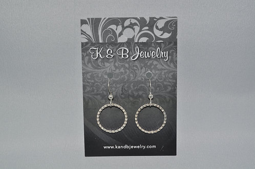 Twisted Wire Circle Earrings  ESB007-SS