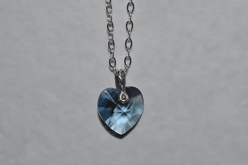 Swarovski Xilion Heart Necklace   NS050-SS