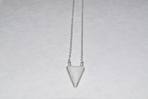 Howlite Triangle Necklace NS104-SS