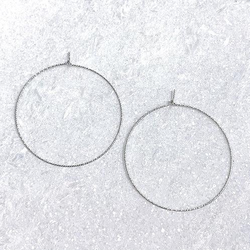 SS Sparkle Hoop Earrings EST-227-SS