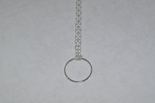 Medium Circle Necklace for Clusters   NL028-SS
