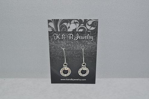 Crystal Circle Earrings  EM001-SS
