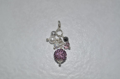 Purple Crystal Pave' Ball Cluster  CS004-SS
