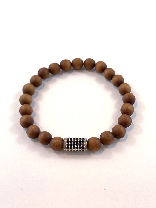 Men's Brown Sandlewood Stretch Bracelet B354-SS