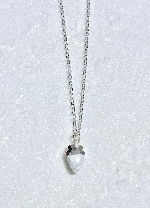 SS Howlite Mini Arrowhead Necklace NS181-SS