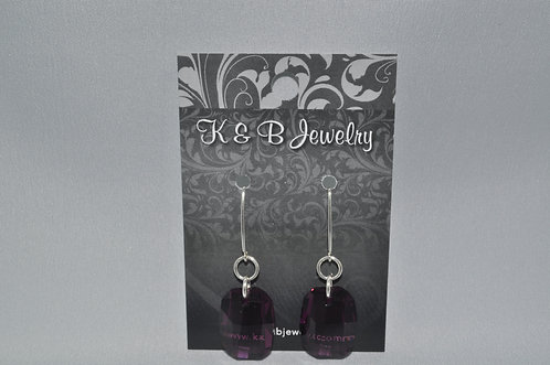 Lilac Graphic Earrings  EM049-SS