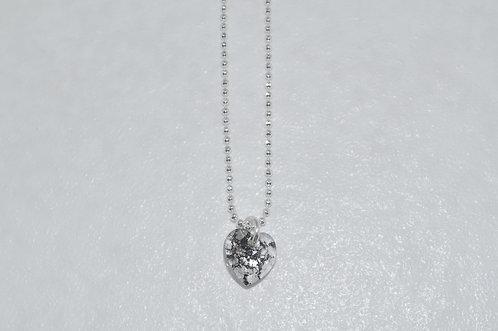 Black Patina Heart Necklace  NS095-SS